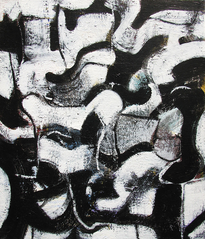 Acrylic painting Black Ice No.4, 2013 by Gary Jenkins