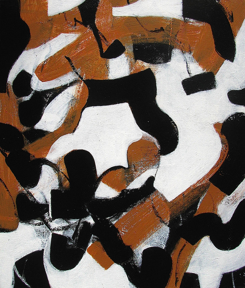 Acrylic painting Black Ice No.16, 2013 by Gary Jenkins