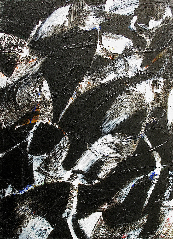 Acrylic painting Black Ice No.22, 2014 by Gary Jenkins