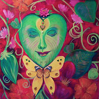 Acrylic painting PlantLove by Jeanne Lloyd