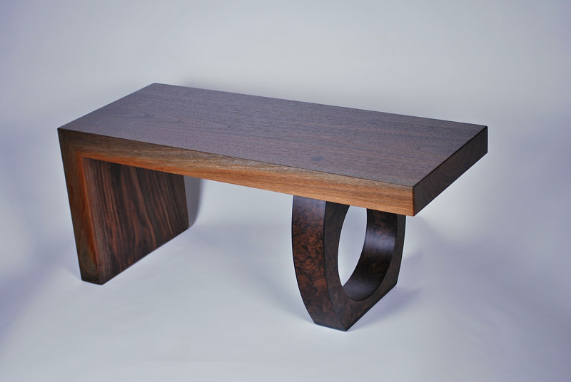 Oil painting Black Walnut Bench by Enrique Morales