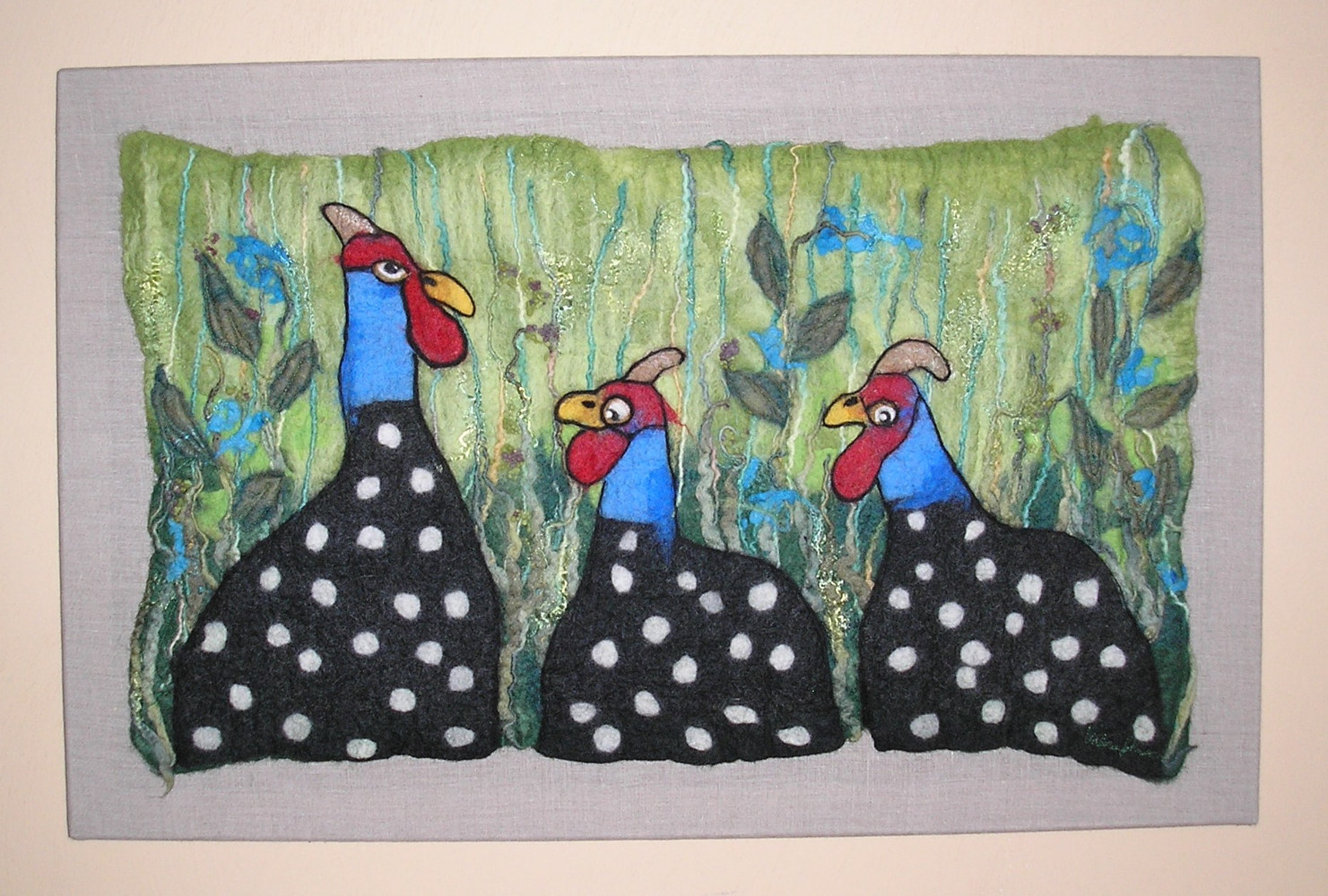 Guineas in the Grass by Valerie Johnson