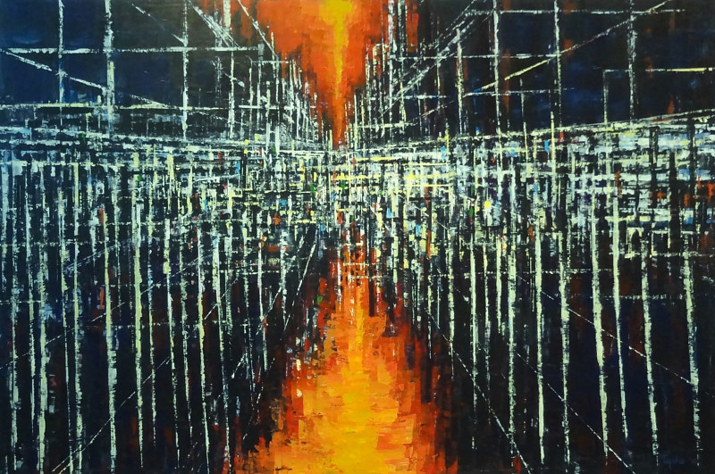 Acrylic painting Urban Matrix No. 10 by David Tycho