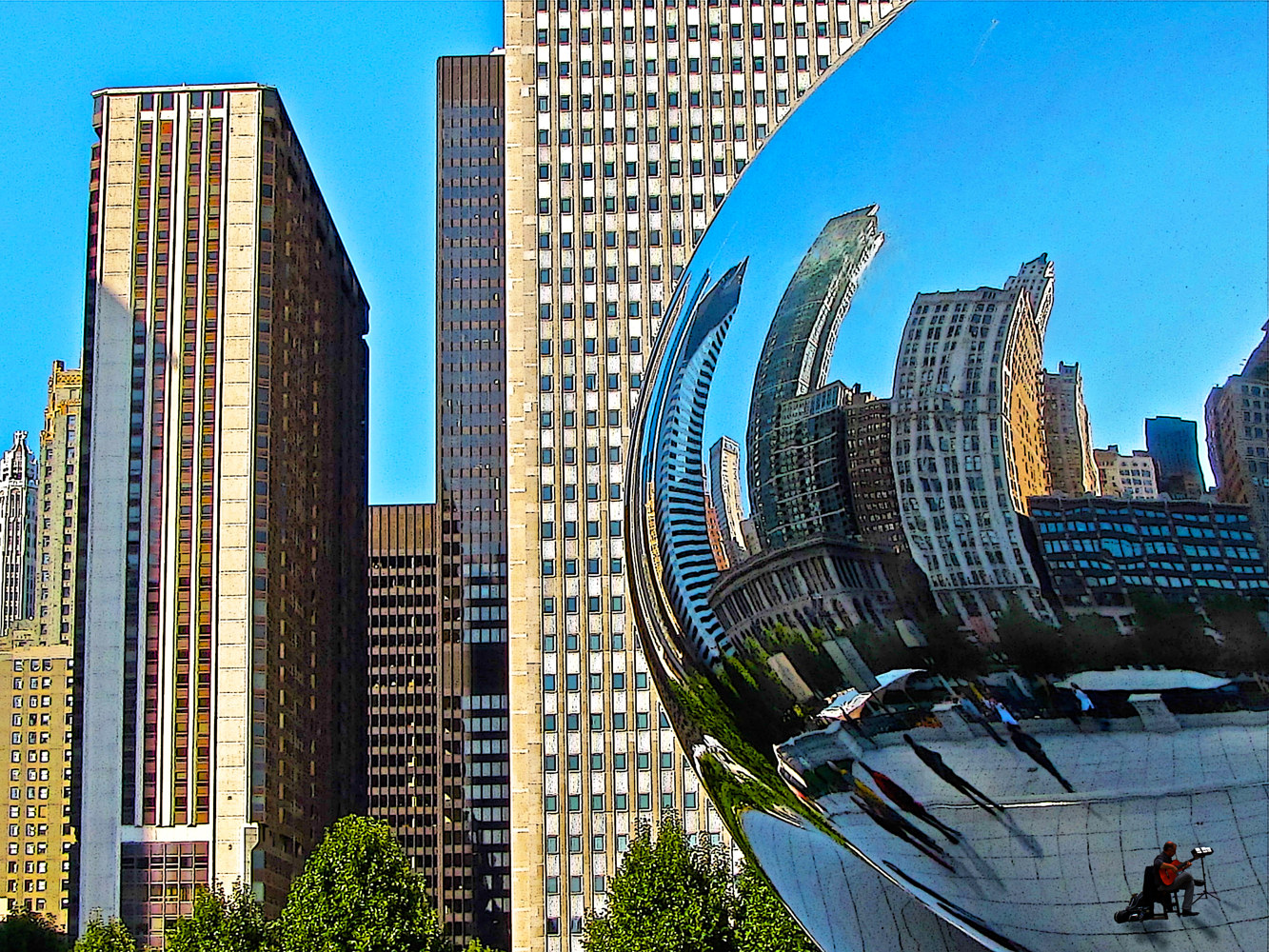 CHICAGO BEAN REFLECTION by Joeann Edmonds-Matthew