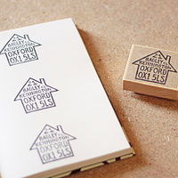 Personalised Address Stamp by ROSE WILLIAMS