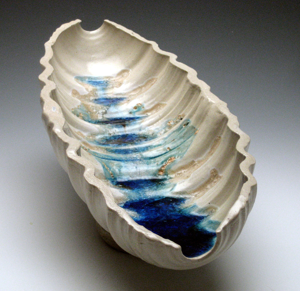Pod with Blue glass by Vicky Smith