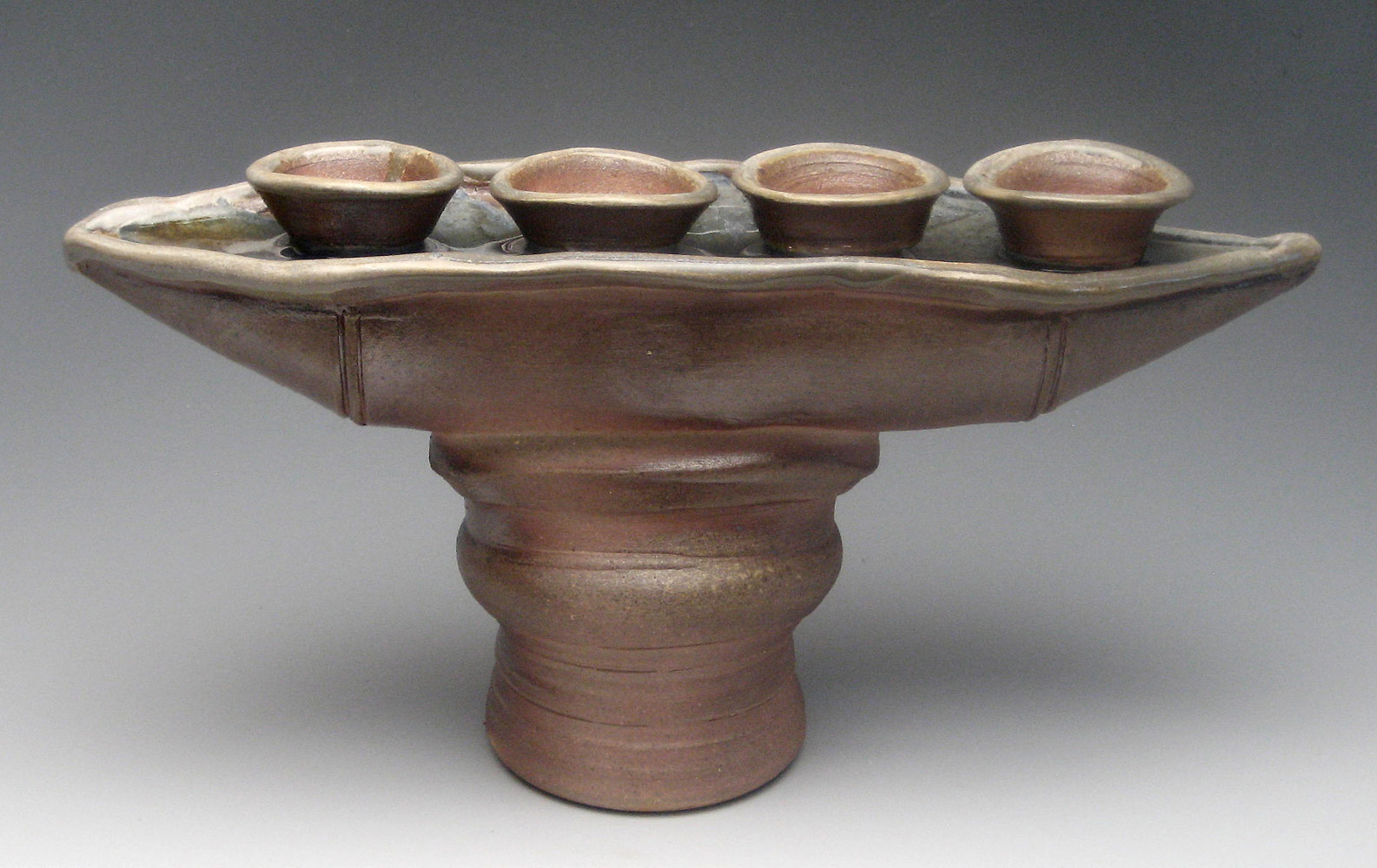 Wood fired Candle Holder by Sharon V Smith