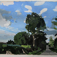 Acrylic painting August 23, 7:30 p.m.  by Harry Stooshinoff