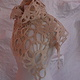 felted lace caplet by Sarah Martin