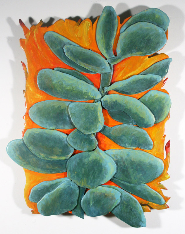 Oil painting Succulent#2 - Crassula? by Gary Eleinko