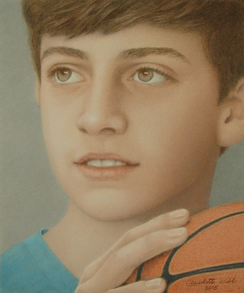 Drawing RORY AT 13 by Claudette Webb