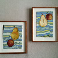 Little Pears, framed view by Patty Yehle