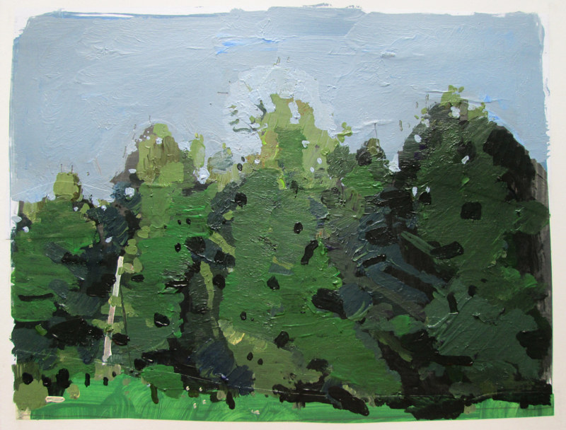 Acrylic painting Grove Edge by Harry Stooshinoff