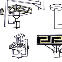Architectural patio heater-concept sketches by John Greg Ball