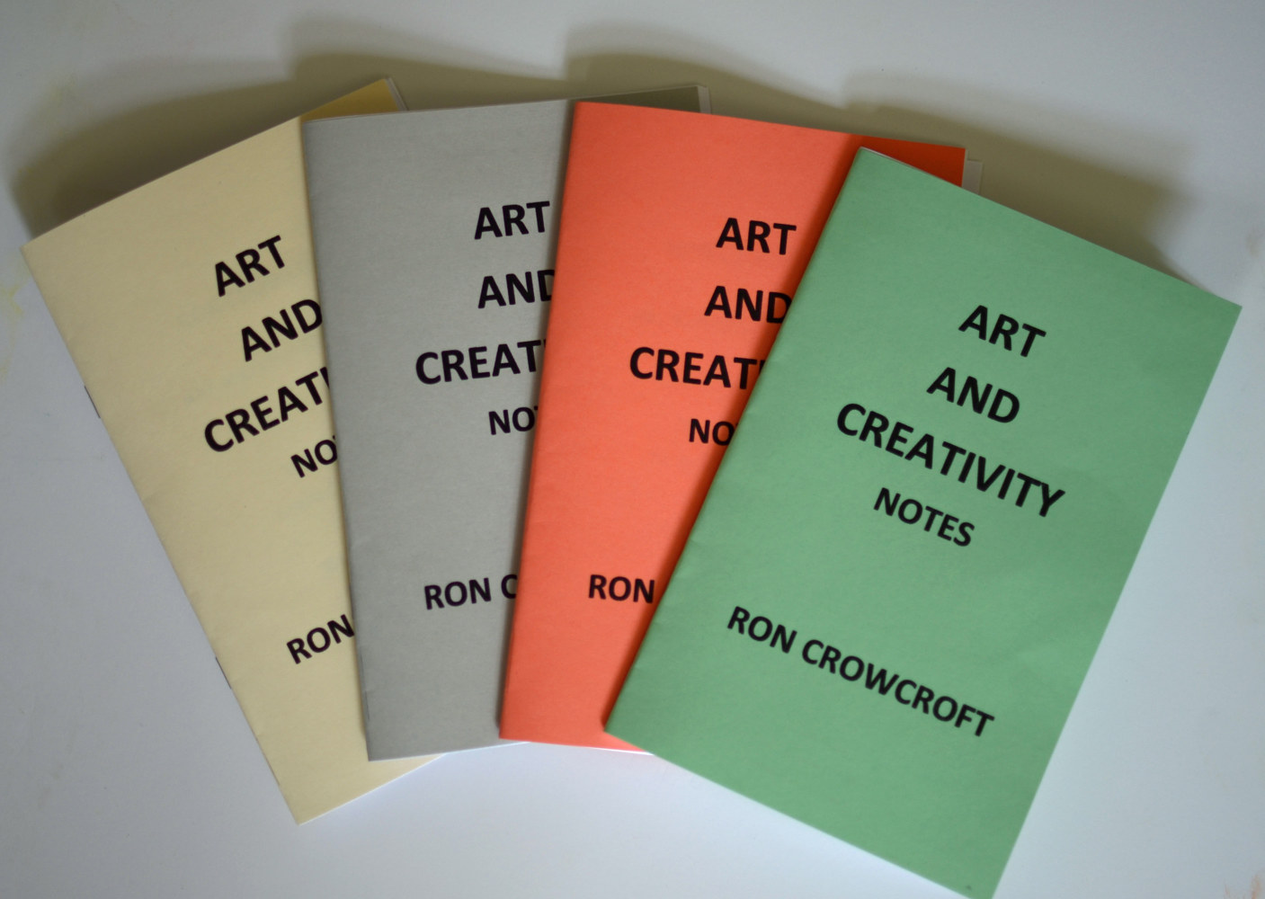 art and creativity notes booklets third edition covers by Ron Crowcroft