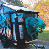 Drawing Art Cart with T-Rex by Ron Buttler