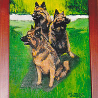 Oil painting Dogs by Ron Buttler