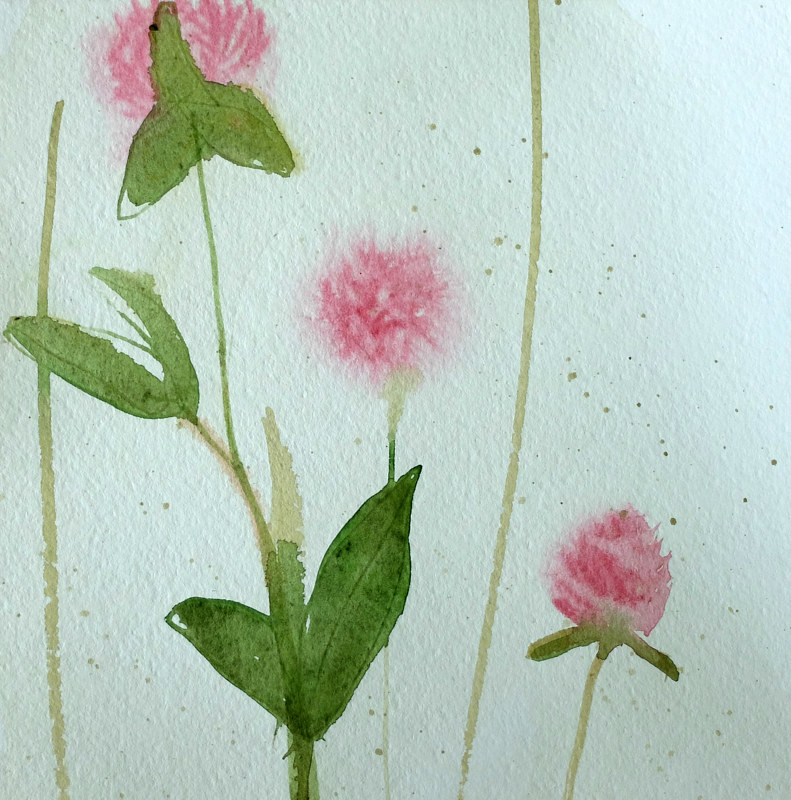 Watercolor Clover by Edith dora Rey