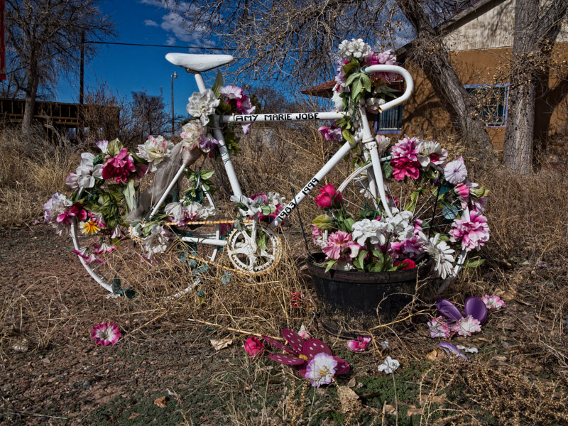 Ghost Bike for Amy Marie Jobe, Espanola NM. 2015. no. 01 by Jim Holbrook
