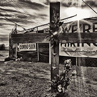 Coming soon, Descanso at construction site, South Coors Blvd, Albuquerque. 2015 by Jim Holbrook