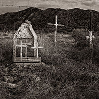 Descansos, Magdalena, NM. 2015 by Jim Holbrook