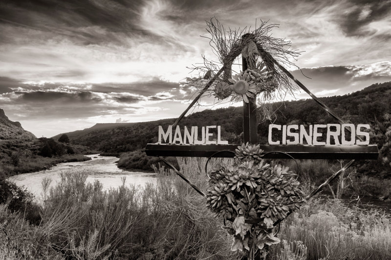 Manuel Cisneros, Rio Grande north of Espanola. 2015 by Jim Holbrook