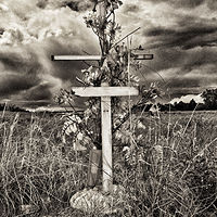 Cross with no Name, no. 01, Pecos NM. 2015 by Jim Holbrook