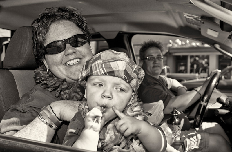 Baby in the Albuquerque Gay Pride Parade, 2012. by Jim Holbrook