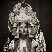 Jade Leyva as Chicomecoatl, Aztec Corn Goddes, for show, Seeds: A Collective Voice, Albuquerque, 2013. by Jim Holbrook