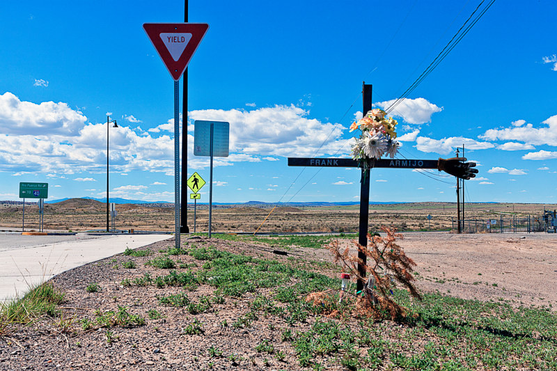 Frank Armijo, Rio Puerco Rd at Route 66 Casino, I 40, NM. 2014 by Jim Holbrook