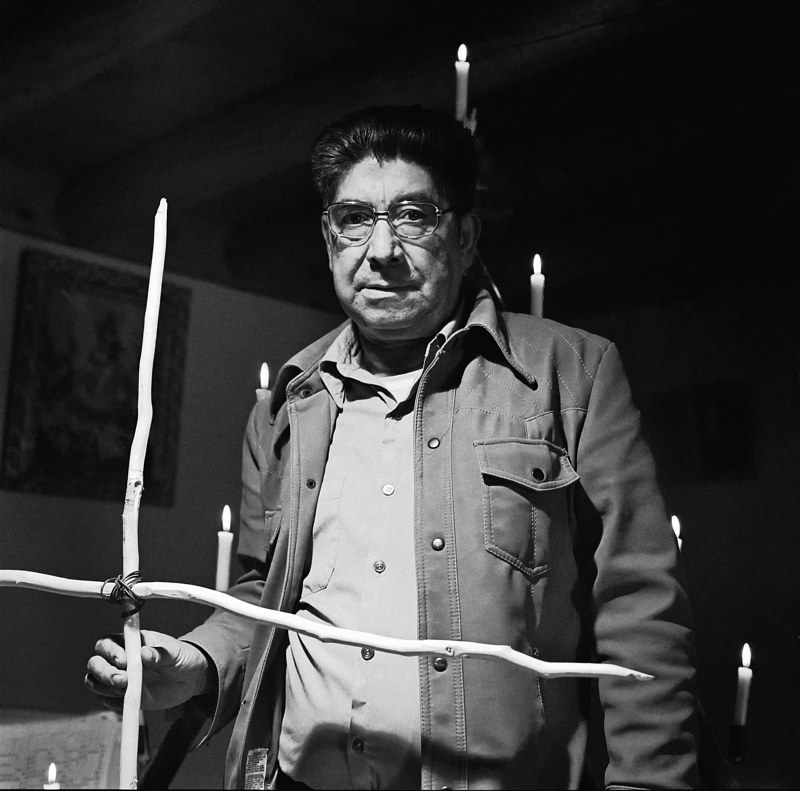 Enrique Rendon, Santero, Alcalde, NM, 1977. by Jim Holbrook