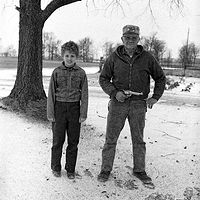 Uncle Bob with his son, Russell Quillen, Urbana, Ohio, 1978. by Jim Holbrook