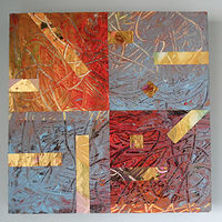 Acrylic painting Squares by Reed Dixon