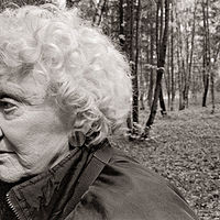 Anne in the birches, Ryazan, Moscow, 1992. by Jim Holbrook