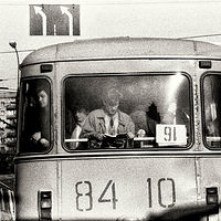 Moscow Commuters, 1992 by Jim Holbrook