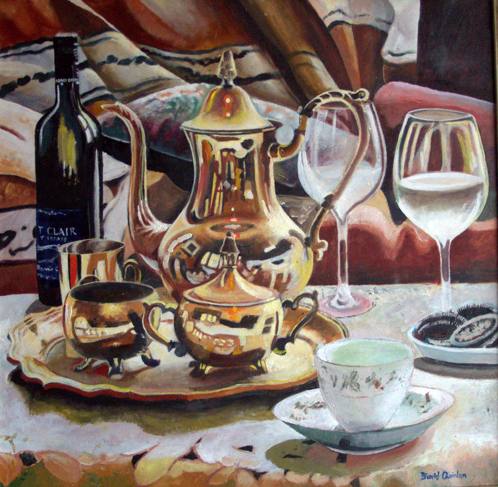Oil painting The Vicars Choice by David Quinlan