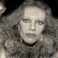 Closeup Series, Woman in Fur, San Francisco, 1980. by Jim Holbrook