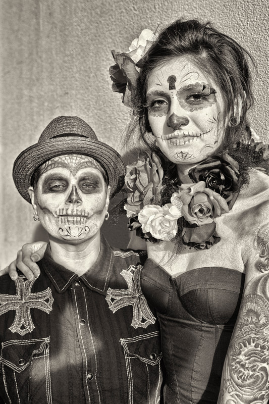 Couple at South Valley Marigold Parade, Albuquerque, NM, 2012. by Jim Holbrook