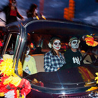 Night Riders, Day of the Dead Marigold Parade, Albuquerque, NM, 2011 by Jim Holbrook