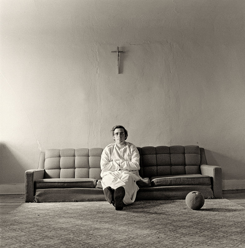 A Brother in the Children's House, Albuquerque, NM, 1974. by Jim Holbrook