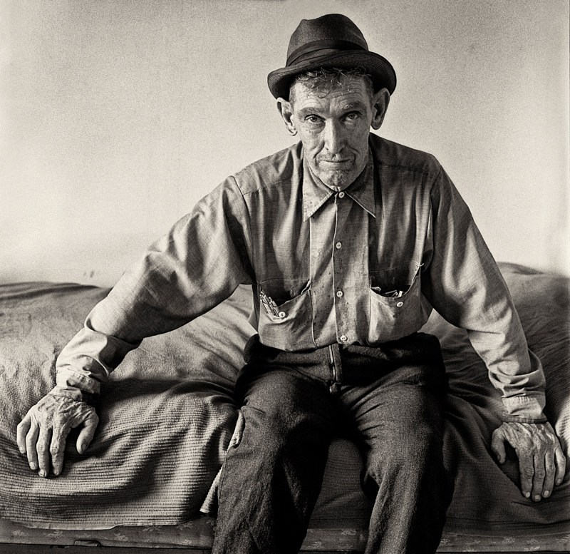 A Man in the Care of the Brothers, Albuquerque,1975. by Jim Holbrook