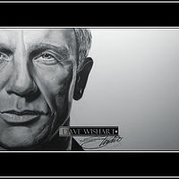 Daniel Craig as 007 by Dave Wishart