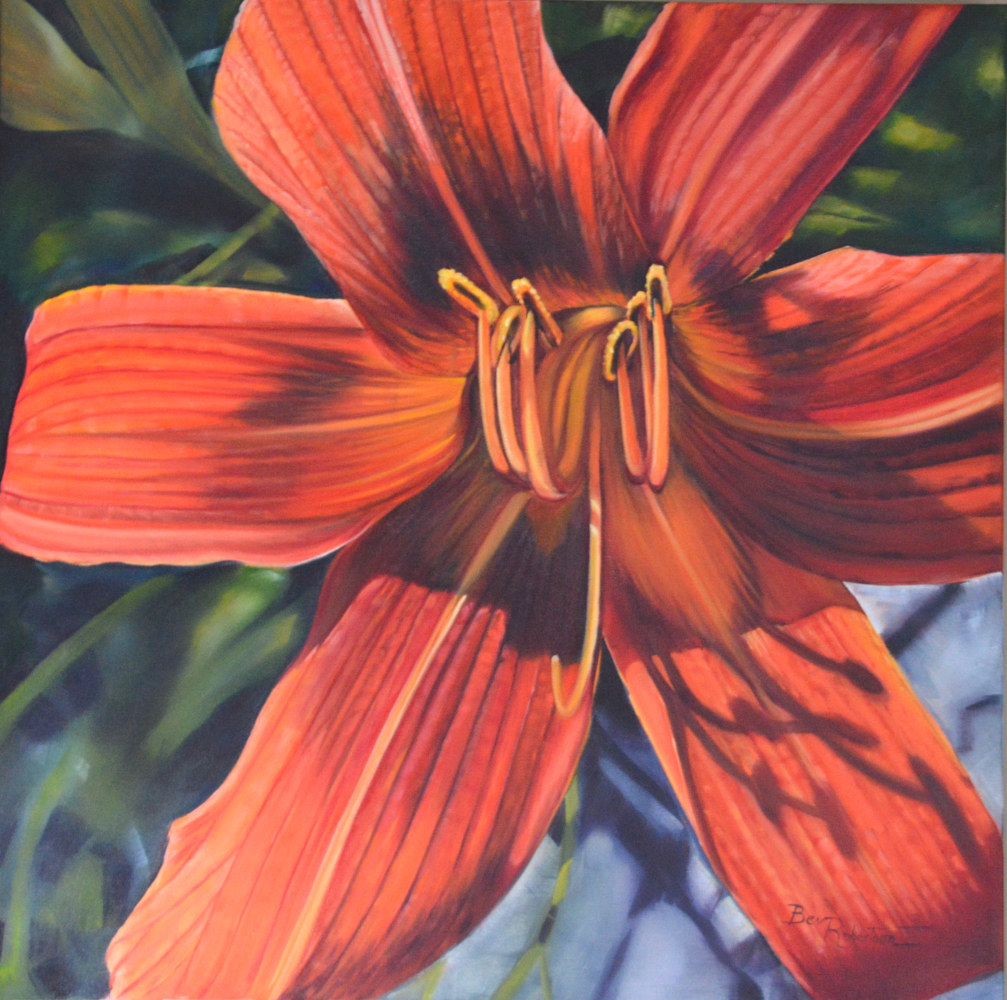Oil painting Its Your Lucky Day Lily by Bev Robertson