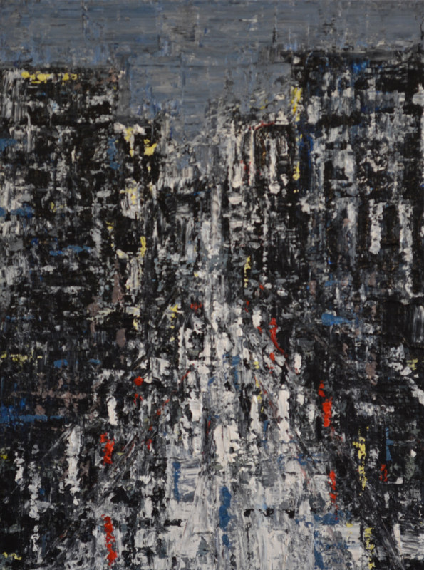 Acrylic painting Urban Rhapsody No. 6 by David Tycho