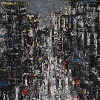 Acrylic painting Urban Rhapsody #6 by David Tycho