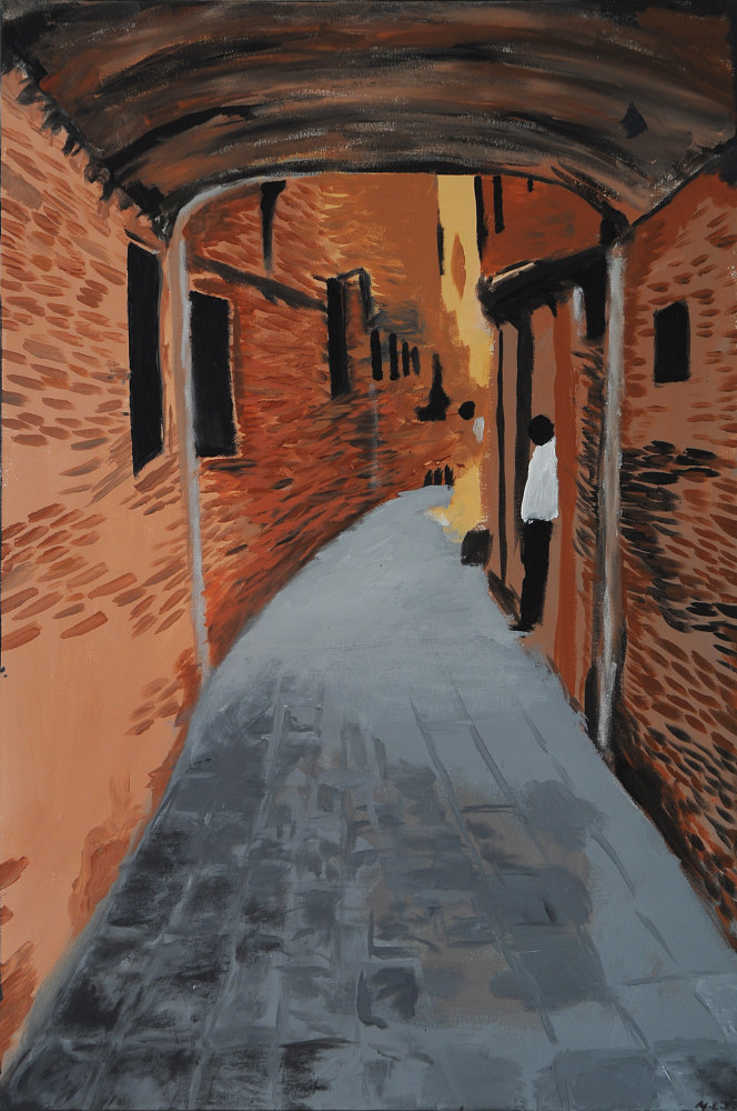 Acrylic painting Lost in Venice by Meghan Sims
