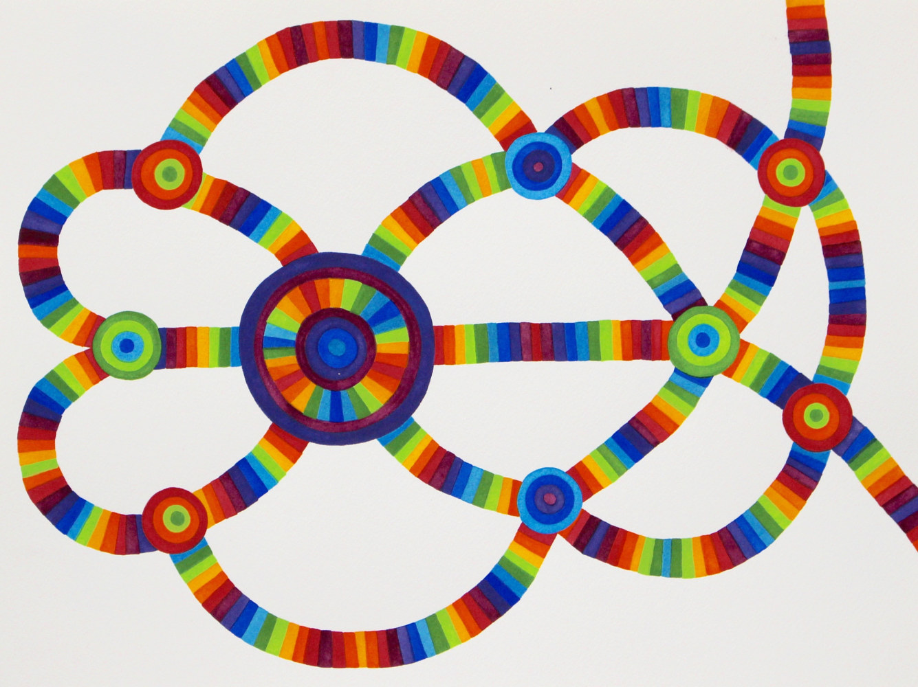 "Watercolor ""Untitled (Radiant Tube Network)"" 2014 by Christann Kennedy"