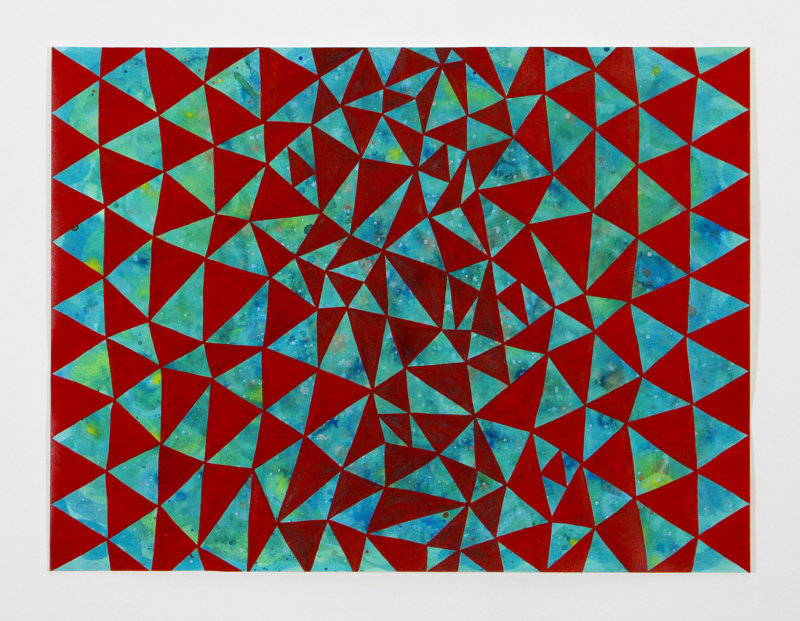 "Acrylic painting ""Cosmos with Red Triangles"" 2012 by Christann Kennedy"