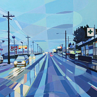 Oil painting SE 82nd no. 1 by Shawn Demarest