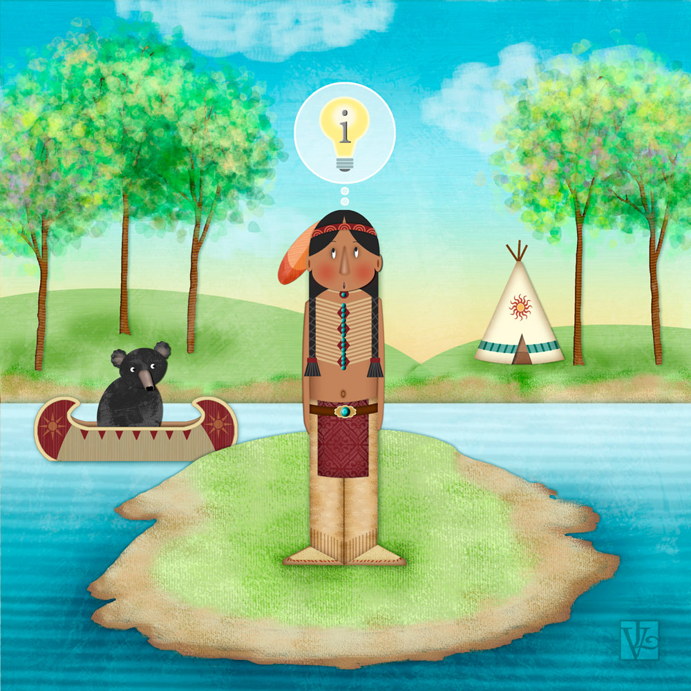 I is for Indian on a Island with an Idea by Valerie Lesiak